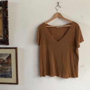 Project social T gauze v-neck in Rust